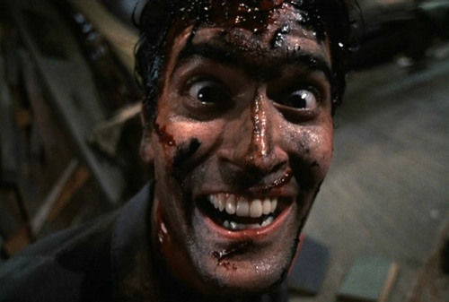 Bruce Campbell as Ash in the evil dead