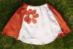 Orange and Cream Toddler Skirt