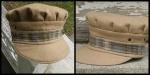 Tan and Plaid Wool Cap