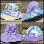 Purple, Blue and Chartreuse Vintage Inspired Sunhat