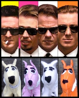 reservoir dogs mr yellow mr pink mr white mr orange