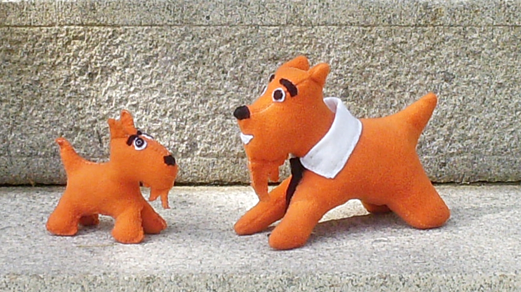 mr orange big and little scotty dogs