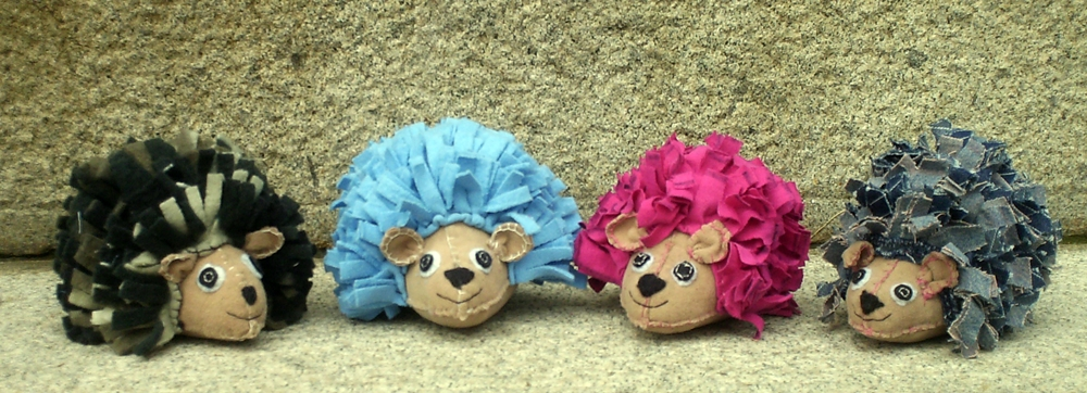 colorful hedgehogs