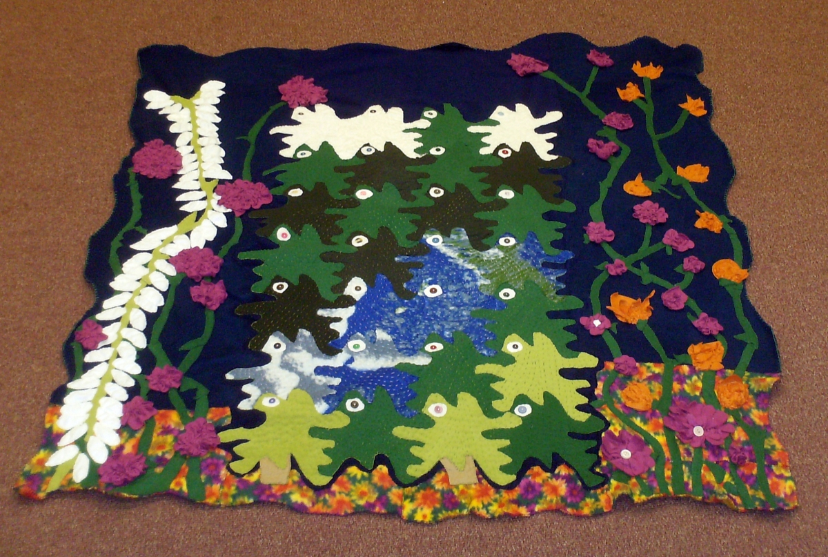 newfound lake tessellation quilt