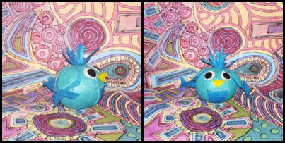 Gertrude McFuzz inspired blue bird