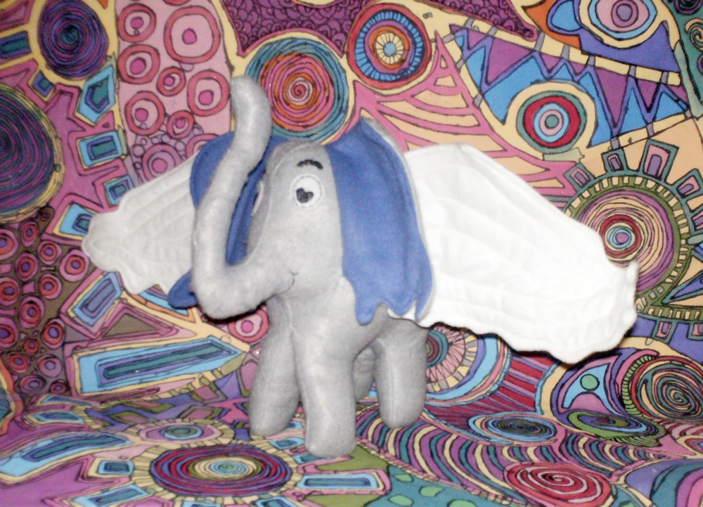 baby flying Horton elephant