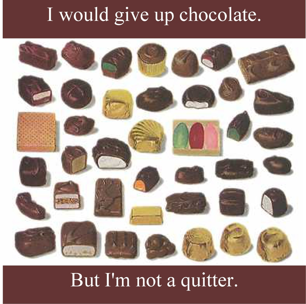 Assorted chocolates, I would give upchocolate, but I'm not a quitter