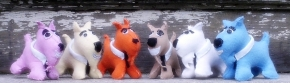 Stuffed animals inspired by Quentin Tarantino's 'Reservoir Dogs'