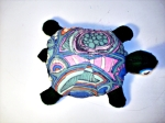 Big turtle sewn from painted, recycled felt by Amy Lyn Kench